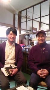 LIFEKU共同代表の藪内義久さん(左)と藁谷郁夫さん(右)