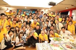 南三陸味わいナイトin東京の参加者ら。黄色いシャツがスタッフ