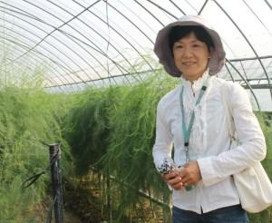 アスパラ生産農家の高橋恵子さん