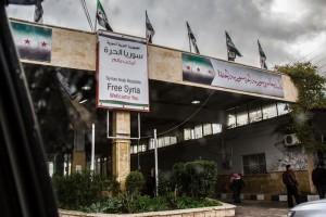 キリス国境のシリア側から見た光景