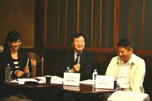ゲストである黄桜の若井芳則専務取締役(写真中央)