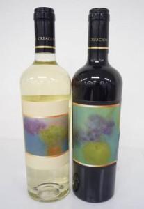 「Heart&Smile」のワインはシダックスが推進するソーシャル・マーケティング(社会問題解決と事業活動を融合する活動)の主旨に賛同したチリのワイナリー・アギーレ社が提供、ラベルは俳優・画家の片岡鶴太郎氏が描いた