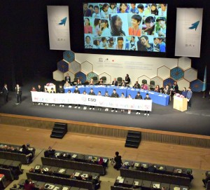 閉会式で各国代表者に「戦争をしないで」などと訴えた愛知・名古屋の子どもたち