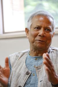 グラミン銀行創設者でノーベル平和賞受賞者のムハマド・ユヌス氏