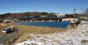 福島県飯舘村伊丹沢に建設予定の発電所の完成予想図