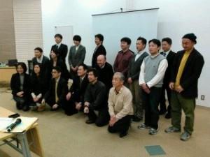 事業案発表会に臨んだ「まちエネ大学」参加者=19日、横浜で