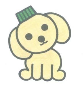 MATEのイメージキャラクター、エコキャップ犬のキャッピー