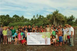 フィリピン・ネグロス島で植樹の様子(広報資料より引用)