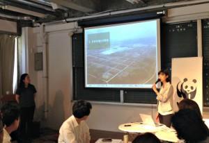 3331 Arts Chiyoda(東京・千代田)で開催された森林セミナー「消えた熱帯雨林とプランテーション」