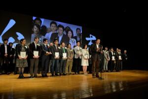 「社会イノベーター公志園結晶大会」では、17人の出場者が1100人の聴衆に向けてあつい思いを伝える