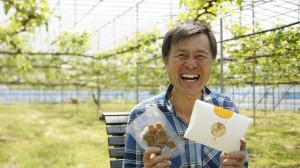 鳥羽さんがプロデュースした46ドウフケンで登壇した、渡辺果樹園の渡辺康弘氏