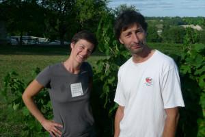 ヴィルジニー・メニアンさん(左)とパトリス・レスカレさん(右)
