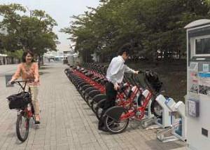 シェアサイクルの利用イメージ(「東京都長期ビジョン」から引用)