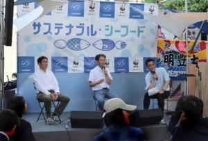 左から松永氏、後藤氏、司会のnico氏