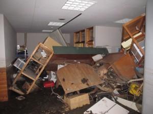 工房のあった建物の内部