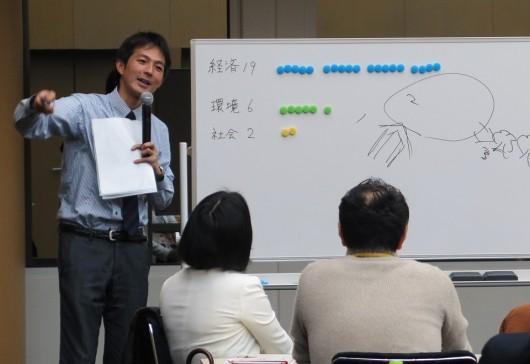 ゲーム結果を説明する稲村代表理事