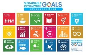 SDGsの17目標(ロゴは国連広報センター作成)