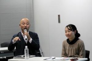 みんな電力の大石社長(左)と国際NGO FoE Japanの吉田氏