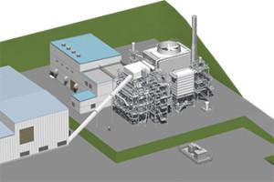 「前橋バイオマス発電所」の完成イメージ(関電工ニュースリリースから引用)