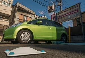 「スマートセンサー」を設置することで、空き地を駐車場としてシェアし、有効活用する仕組みが広がりつつある