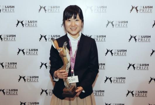 若手研究者部門アジア賞を受賞した辰巳久美子氏