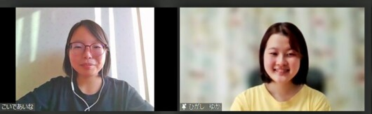「Climate Live Japan」を主催するwe Re:Act共同代表の小出真菜さん(左)と広報担当の東結花さん