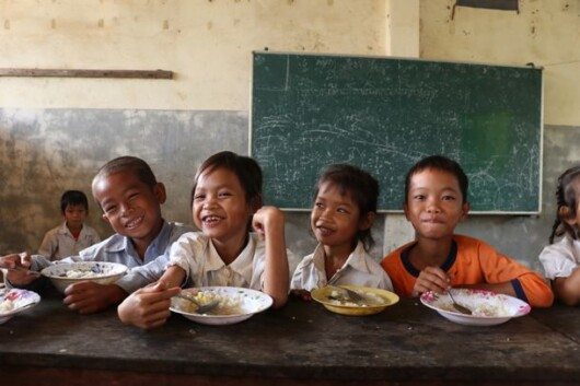 ABCは国連WFPとも協働し、食の問題に関する啓発を行う ©WFP/Ratanak-Leng